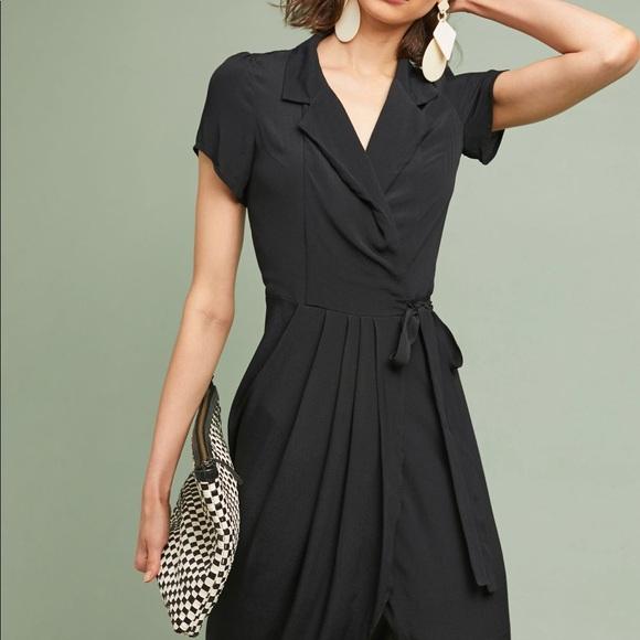 a2475b3960c17 Anthropologie Yumi Kim Judith Black Wrap Dress